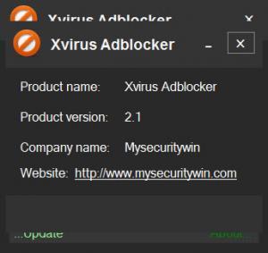 Enlarge Xvirus Adblocker Screenshot