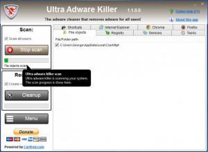 Enlarge Ultra Adware Killer Screenshot