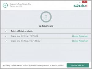 Enlarge Kaspersky Software Updater Screenshot