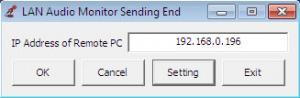 Enlarge LAN Audio Monitor Screenshot