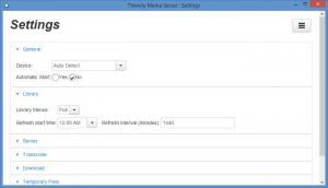 Enlarge TVersity Media Server Screenshot