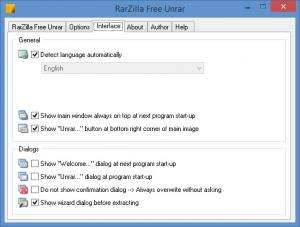 Enlarge RarZilla Free Unrar Screenshot