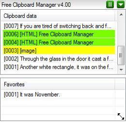 Enlarge Free Clipboard Manager Screenshot
