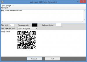 Enlarge Alternate QR Code Generator Screenshot