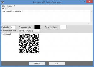 Enlarge Alternate QR Code Generator Screenshot