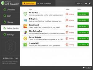 Enlarge Auslogics Anti-Malware Screenshot