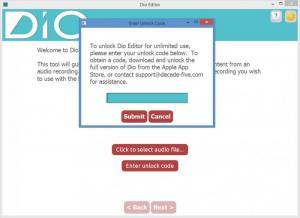 Enlarge Dio Editor Screenshot