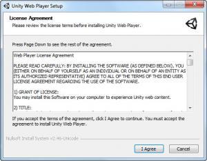Enlarge Unity Web Player Screenshot