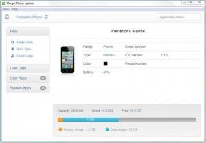 Enlarge Macgo iPhone Explorer Screenshot