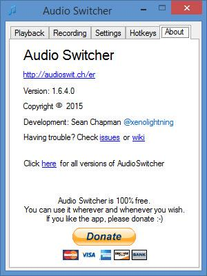 Enlarge Audio Switcher Screenshot