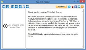 Enlarge FSS ePub Reader Screenshot