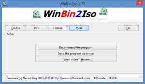 Enlarge WinBin2Iso Screenshot