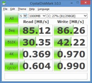 Enlarge CrystalDiskMark Screenshot