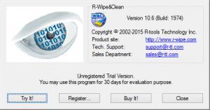 Enlarge R-Wipe & Clean Screenshot