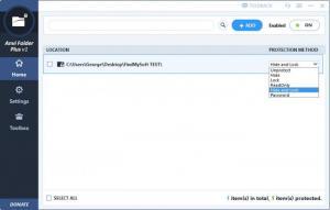 Enlarge Anvi Folder Locker Screenshot