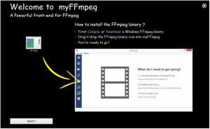 Enlarge myFFmpeg Screenshot