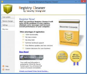 Enlarge Security Stronghold Registry Cleaner Screenshot