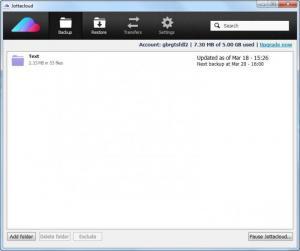 Enlarge Jottacloud Screenshot