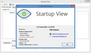 Enlarge Startup View Screenshot