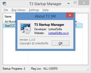 Enlarge T3 Startup Manager Screenshot