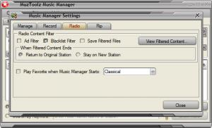 Enlarge MuzToolz Music Manager Screenshot