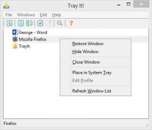 Enlarge TrayIt! Screenshot