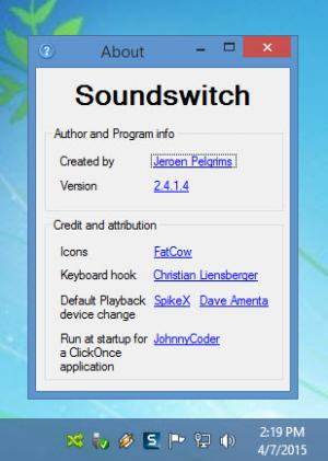 Enlarge SoundSwitch Screenshot