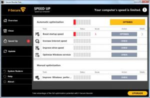 Enlarge F-Secure Booster Screenshot