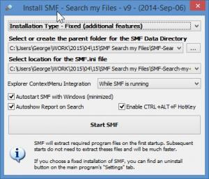 Enlarge SMF Search my Files Screenshot