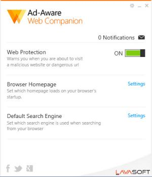 Enlarge Ad-Aware Web Companion Screenshot