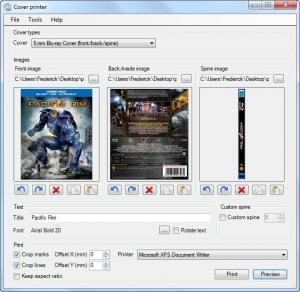 Enlarge Cover Printer Screenshot