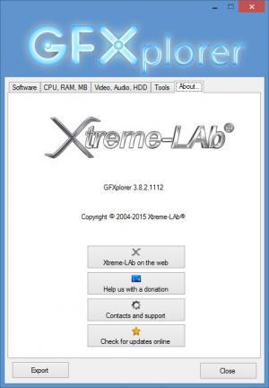 Enlarge GFXplorer Screenshot