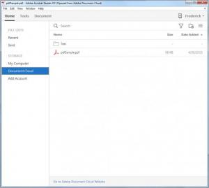 Enlarge Adobe Acrobat Reader DC Screenshot