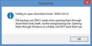 Enlarge AlomWare Undo Screenshot