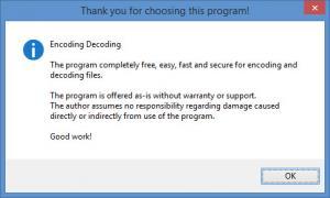 Enlarge Encoding Decoding Screenshot