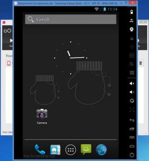 Enlarge Genymotion Screenshot