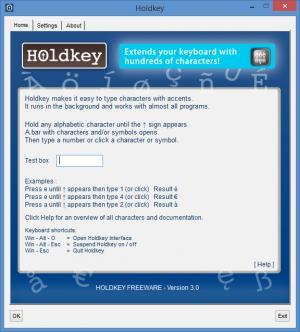 Enlarge Holdkey Screenshot