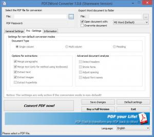 Enlarge PDF2Word Converter Screenshot