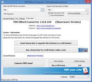 Enlarge PDF2Word Converter Screenshot