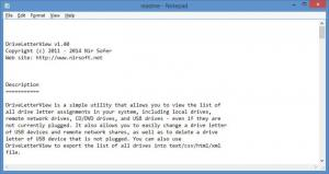 Enlarge DriveLetterView Screenshot