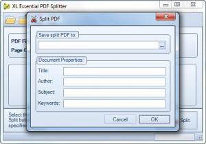 Enlarge XL Essential PDF Splitter Screenshot