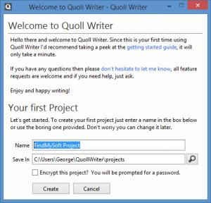 Enlarge Quoll Writer Screenshot