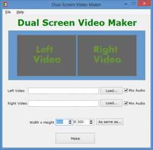 Enlarge Dual Screen Video Maker Screenshot