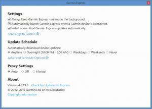 Enlarge Garmin Express Screenshot