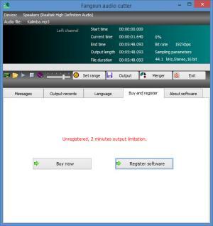 Enlarge Fangxun Audio Cutter Screenshot