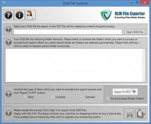 Enlarge OLM File Exporter Screenshot
