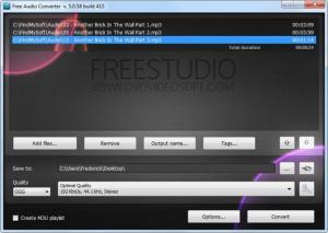 Enlarge Free Audio Converter Screenshot
