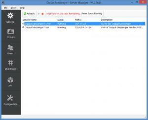Enlarge Output Messenger Server Screenshot