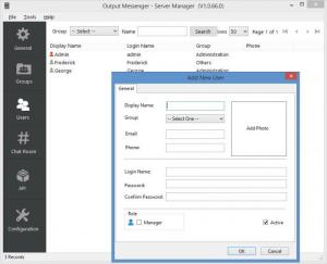 Enlarge Output Messenger Server Screenshot