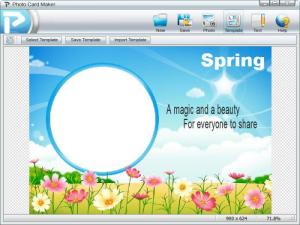Enlarge Photo Card Maker Screenshot